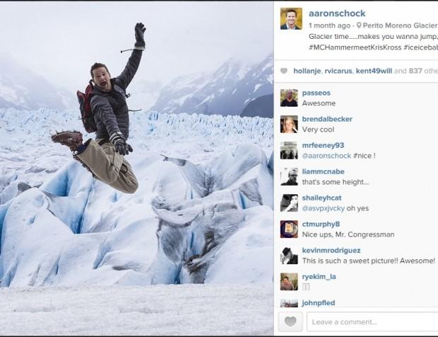 Conta do Instagram do congressista Aaron Schock revelou uso de dinheiro público. (Crédito: Reprodução)