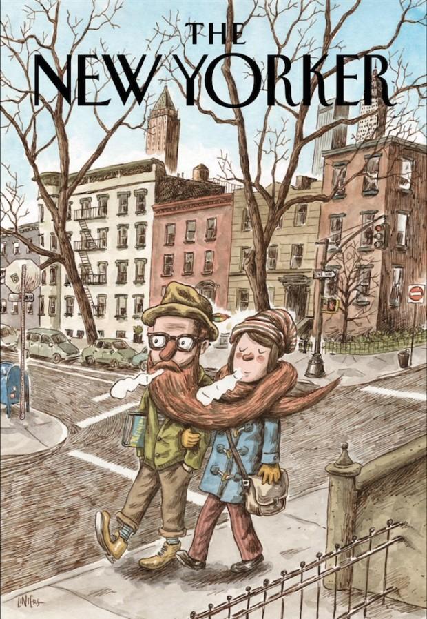 Cartunista Liniers assina capa da The New Yorker desta semana. (Crédito: Reprodução)