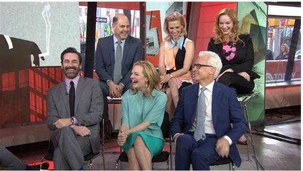 """O elenco de Mad Men foi entrevistado hoje cedo no """"Today Show"""", em Nova York (Foto: Divulgação)"""