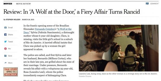 """The New York Times faz crítica favorável do filme """"O Lobo Atrás da Porta"""", que estreia hoje. (Foto: Reprodução)"""
