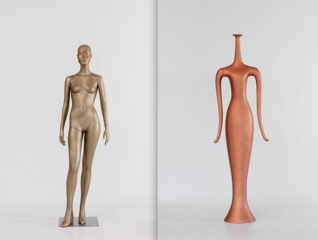 Modelo para a designer Diane von Furstenberg criado em estilo guerreiros de terracota (2014) e modelo Nile, em colaboracão com Patrick Nagar (1995) (Fotos de Antoine Bootz)