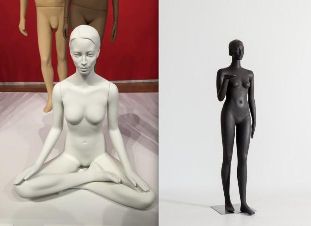 Manequins criados em parceria com as modelos americana Christy Turlington e alemã Veruschka. (Foto: Marcelo Bernardes e Antoine Bootz)