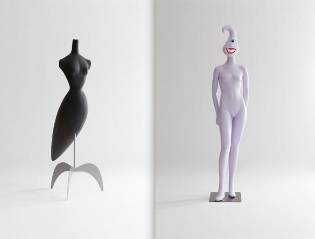 Formas artísticas: o modelo Surrealista Birdman, criado por Ruben Toledo (1988) e Swerley, com Kenny Scharf (2000) (Fotos Antoine Bootz)