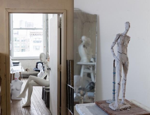 Partes do ateliê de verdade de Ralph Pucci. (Fotos de Antoine Bootz)