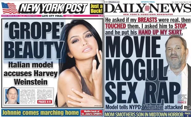 As capas do Daily News e The New York Post de hoje. (Foto: Reprodução)