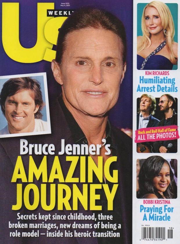 Bruce Jenner é assunto dos tablóides nas últimas três semanas. Ele aparece na capa da US Weekly desta semana. (Foto: Reprodução)