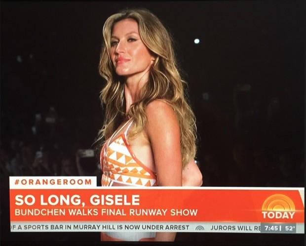 "O ""Today Show"" teve segmento sobre Gisele"