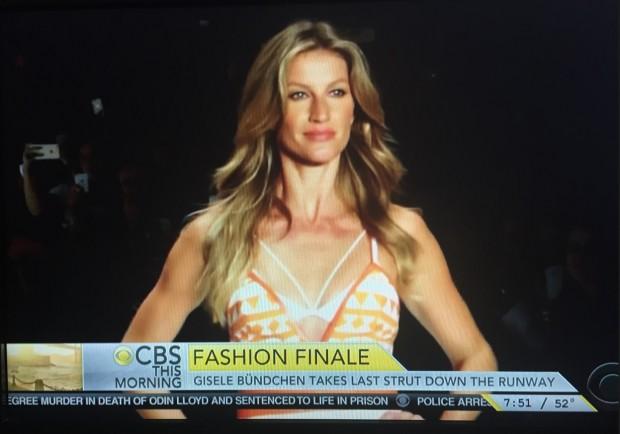 "Apresentadora da rede CBS disse: ""Nada mal se aposentar aos 34 anos."""