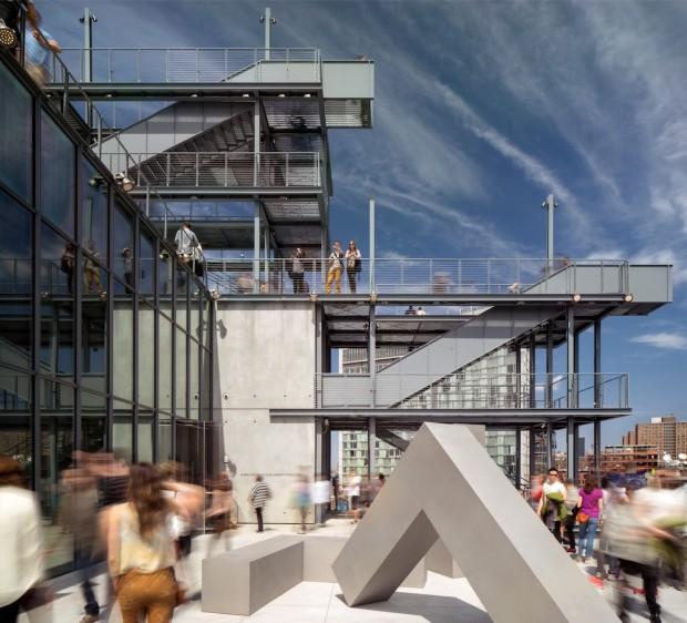 Todo de vidro, com quatro pátios nos quais artistas poderão instalar esculturas e fazer performances. (Foto: Divulgação)