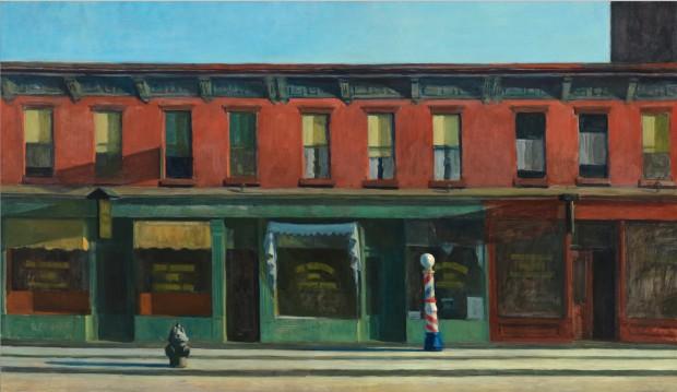 Onde Hopper é mais Hopper. Essa icônica tela batizada de Early Sunday Morning, foi pintada por Hopper em 1930, a poucos quarteirões de distância da atual sede do Whitney. (Foto: Divulgação)