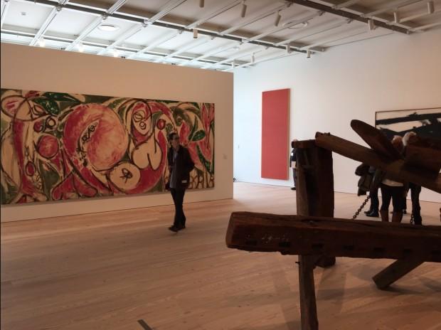 The Seasons, tela de Lee Krasner, mulher de Jackson Pollock. (Foto: Marcelo Bernardes)