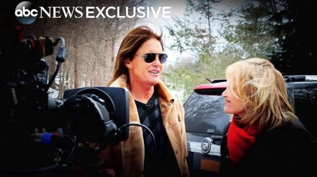 Foto de divulgação da entrevista de Bruce Jenner à jornalista Diane Sawyer, na noite de sexta.