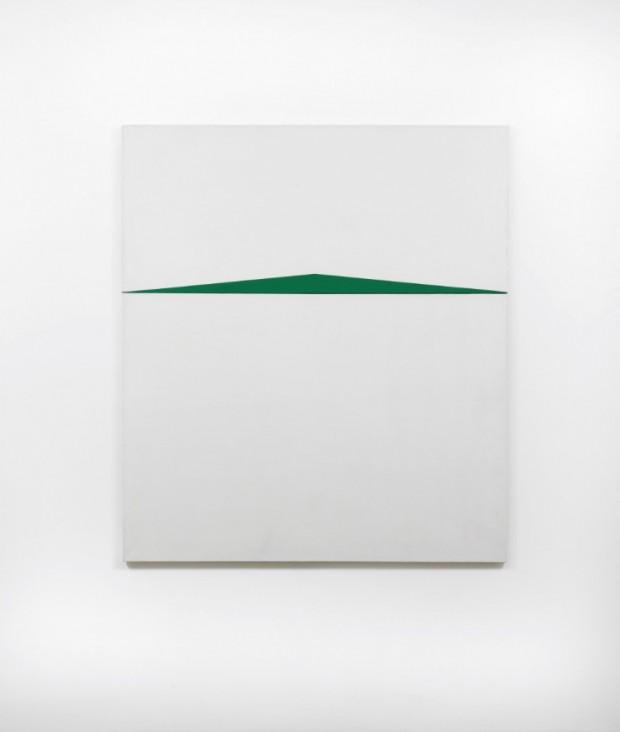 O quadro Blanco y Verde, de Carmen Herrera, em exposição no Whitney. (Foto: Divulgação)