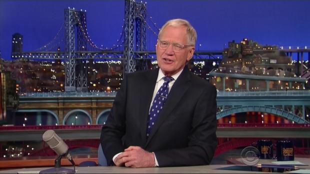 """Letterman em seu derradeiro """"boa noite"""""""