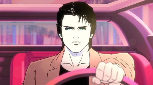 """Rob Lowe dubla o detetive playboy Dazzle Novak, protaginista da série de animação """"Moonbeam City"""", que estreou ontem a noite na TV americana. (Foto: Comedy Central)"""