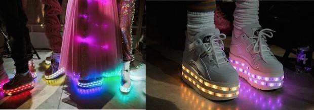 Os tênis com LED criados pela designer inglesa Ashish Gupta para a loja Topshop no ano passado. (Foto: Divulgação)