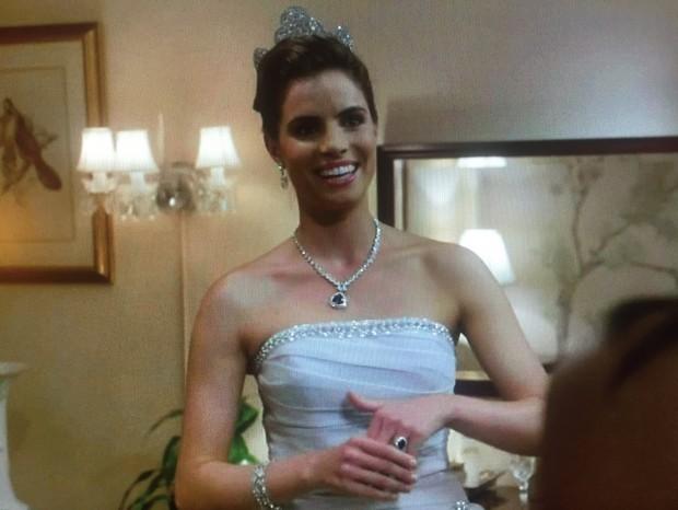 """Princesa da """"Caledônia"""" janta na Casa Branca antes de morrer num acidente de carro num túnel de Washington D.C. (Foto: Reprodução)"""