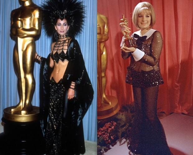 O designer brasileiro Francisco Costa diz que as roupas mais influentes da história do Oscar foram usadas por Cher, em 1986, e Barbra Streisand, em 1969. (Foto: Reprodução)