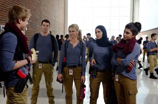 Entre os cadetes está uma muçulmana, interpretada por Yasmine Al Massri. (Foto:   ABC/Guy D'Alema)