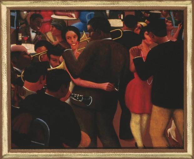 """O quadro """"Blues"""", de 1929, é considerado uma das principais obras do movimento Renascimento do Harlem. (Foto: Divulgação)"""