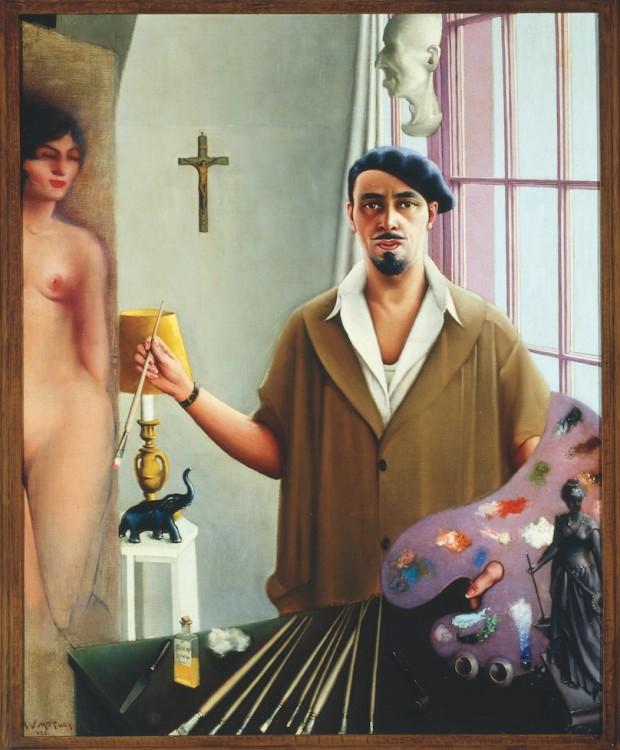 """""""Myself at Work"""": auto-retrato do modernista Archibald Motley, pintado em 1933. (Foto: Divulgação)"""