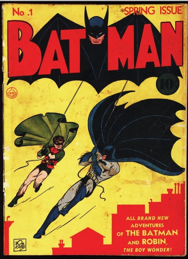 """Batman ganhou um comic book próprio, em 1940, após surgir, um ano antes, numa edição do """"Detetive Comics"""". (Foto: Cortesia Library of Congress, Washington D.C.)"""