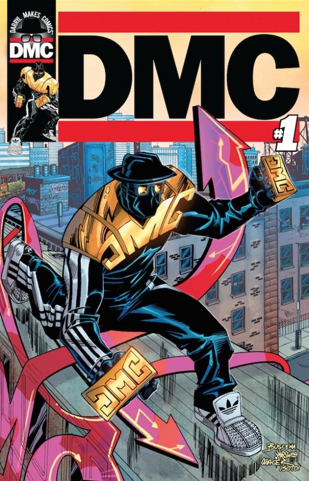 O superherói DMC foi criado no ano passado pelo músico Darryl McDaniels, ex-integrante da lendária banda de hip hop Run-DMC. (Foto: Darryl Makes Comics, LLC.)