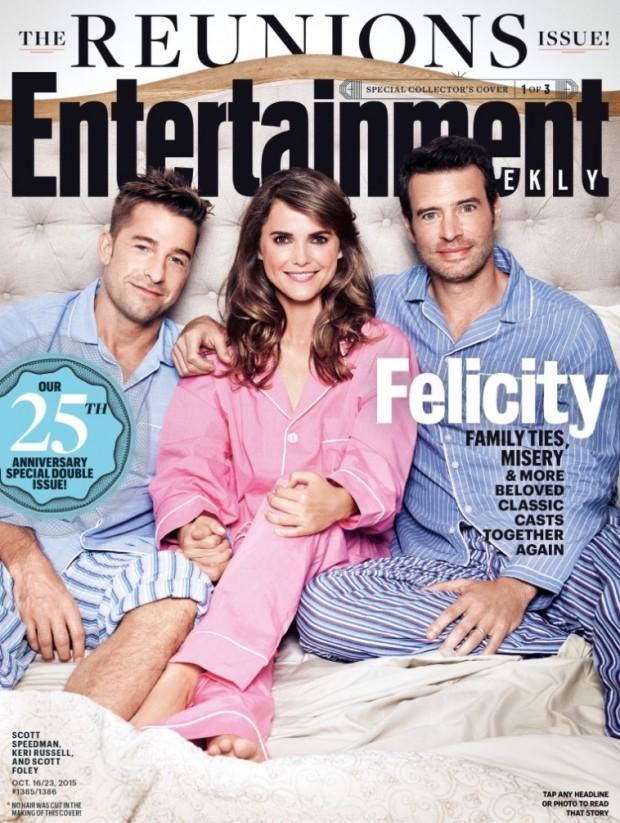 """Elenco de """"Felicity"""" na capa da """"Entertainment Weekly"""" desta semana. (Foto: Reprodução)"""