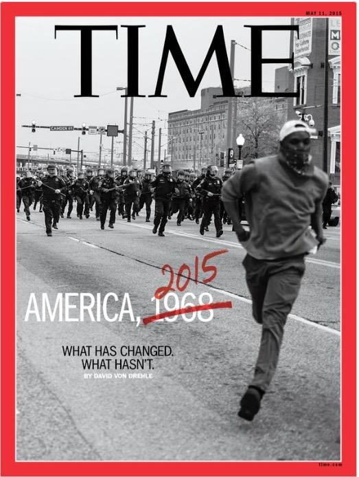 Imagem captada pelo jovem fotógrafo Devin Allen, via Instagram, foi parar na capa da Time em abril deste ano. (Foto: Divulgação)
