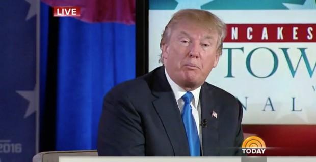 """Donald Trump, hoje pela manhã, no programa """"Today"""" (Foto: Reprodução)"""