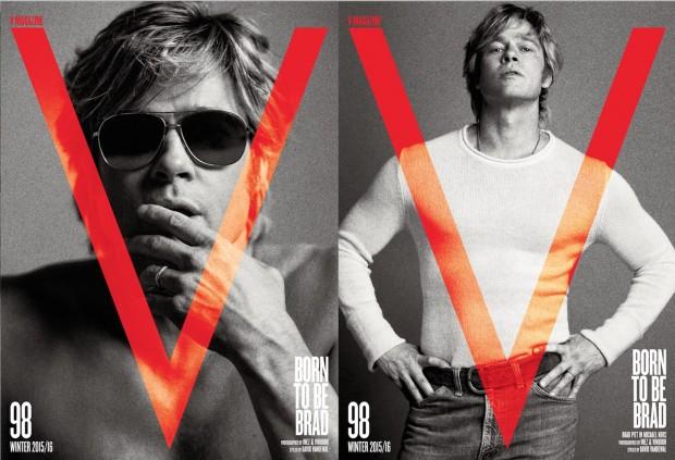 "Brad Pitt na capa da nova edição da revista ""V"". (Foto: V Magazine #98; fotógrafos Inez and Vinoodh; stylist: David Vandewal)"