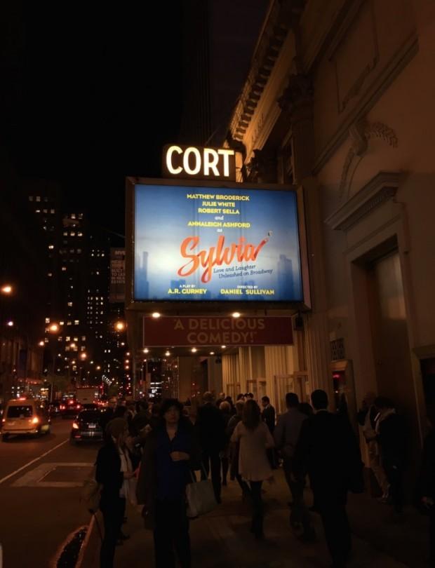 """Movimentação na porta do teatro Cort, na rua 48, onde """"Sylvia"""" está sendo apresentado. (Foto: Marcelo Bernardes)"""