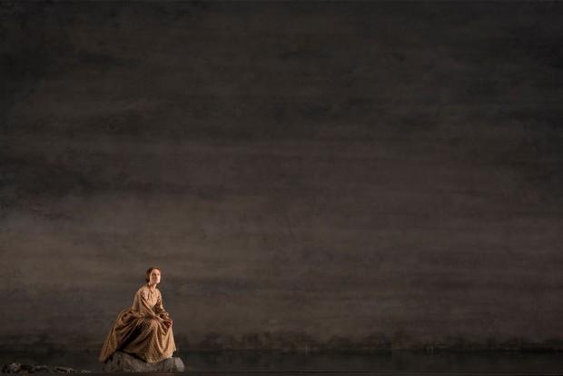 Keira Knigthley em cena na peça Thérèse Raquin, que teve estreia oficial na quinta-feira. (Foto: Joan Marcus)