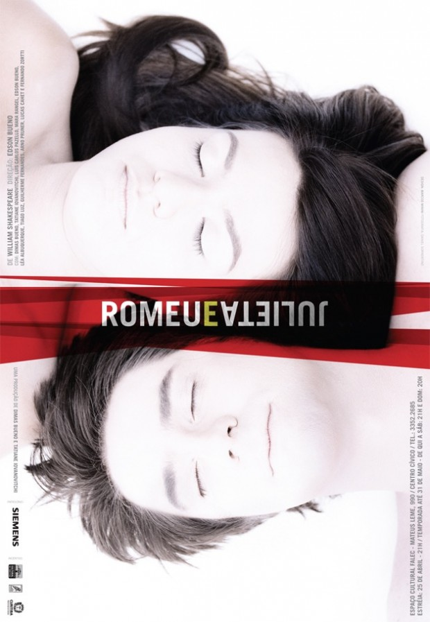 """O outro pôster de Marcos Minini presente no livro: """"Romeu e Julieta"""", de 2009. (Foto: Divulgação)"""