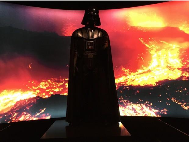 """""""Luke, eu sou seu pai!"""" Darth Vader no final da exposição. (Foto: Marcelo Bernardes)"""
