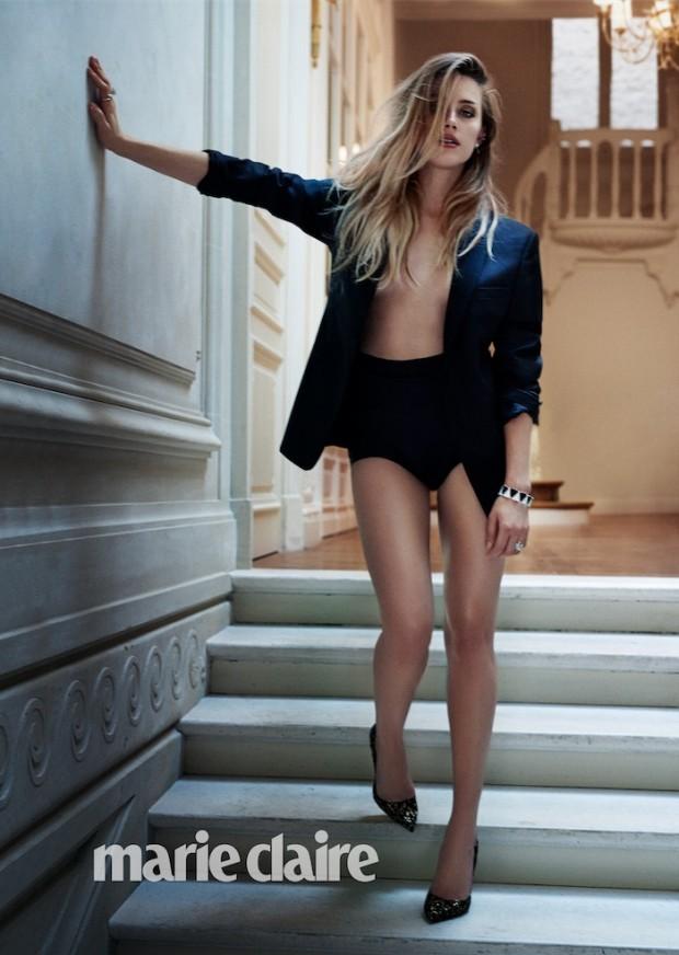 "Amber Heard em ensaio fotográfico da ""Marie Claire"" americana de dezembro. (Foto: Boe Marion, cortesia Marie Claire)"