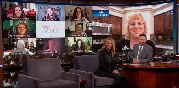 "Dez Julia Roberts aparecem no programa ""Jimmy Kimmel Live!"" (Foto: Reprodução)"
