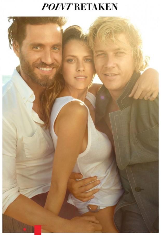 """Os atores Édgar Ramírez, Teresa Palmer e Luke Bracey posaram para a """"Vanity Fair"""". (Foto: Reprodução)"""