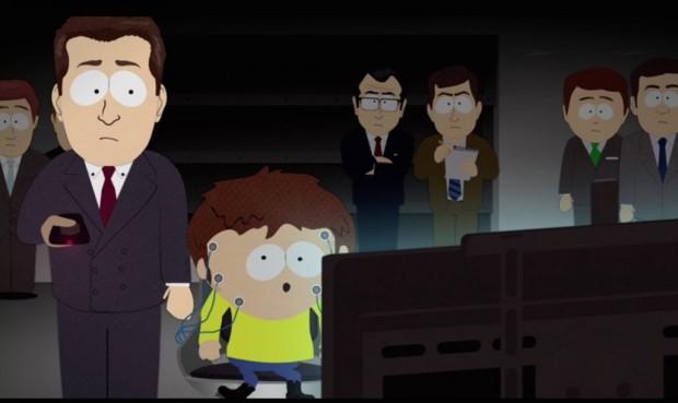 Grupo de ex-executivos de mídia fazem testes com Jimmy. O garoto precisa distinguir a diferença entre anúncios e reportagens verdadeiras. (Foto: Reprodução)