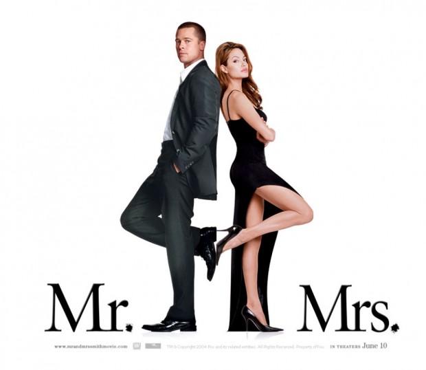 """O pôster de """"Sr. e Sra. Smith"""": sexy appeal escancarado. (Foto: Reprodução)"""