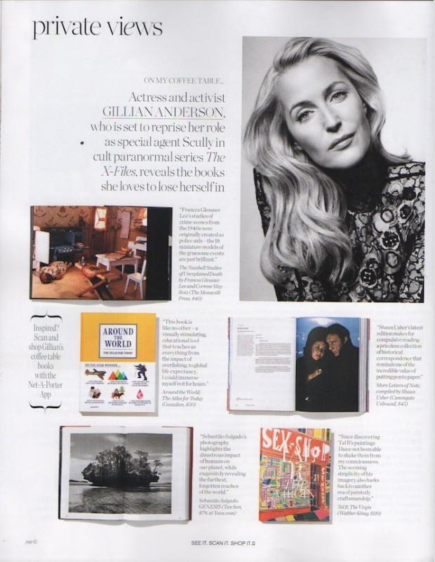 """Gillian Anderson na revista """"Porter"""", edição 12 (Foto: Reprodução)"""