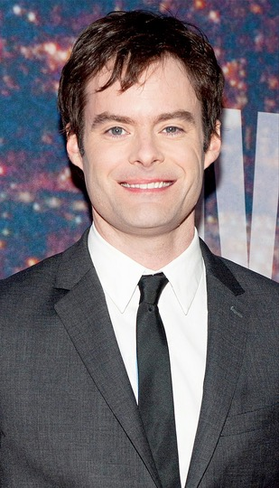 "O comediante Bill Hader, ex-integrante do elenco do programa ""Saturday Night Live"", dupla os ""beeps"" do novo robôzinho BB-8"