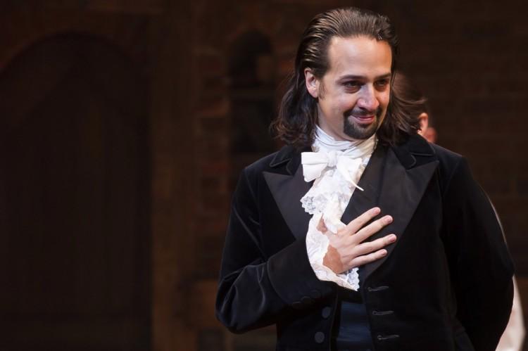 """Lin-Manuel Miranda, em cena do musical da Broadway """"Hamilton"""", compôs a música animada da cena da cantina."""