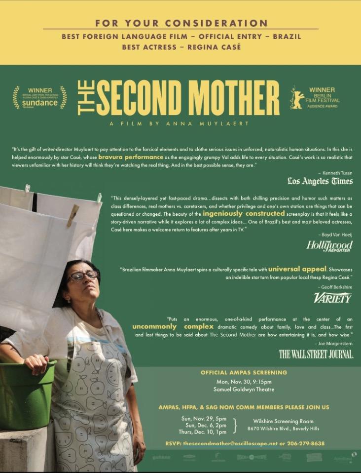 """Anúncio de página inteira da campanha do filme """"Que Horas Ela Volta?"""" na revista """"The Hollywood Reporter"""" de novembro. (Foto: Reproducão)"""