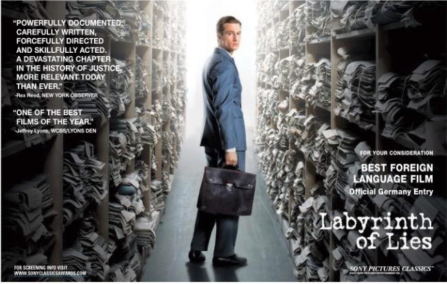 """""""Labirinto de Mentiras"""", Alemanha"""
