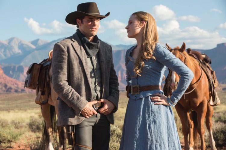 """James Marsden e Evan Rachel Wood no western/ficção científica """"Westworld"""". (Foto: Divulgação)"""