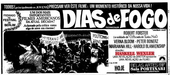Pôster do documentário, publicado na Folha, em novembro de 1970. (Foto: Reprodução)