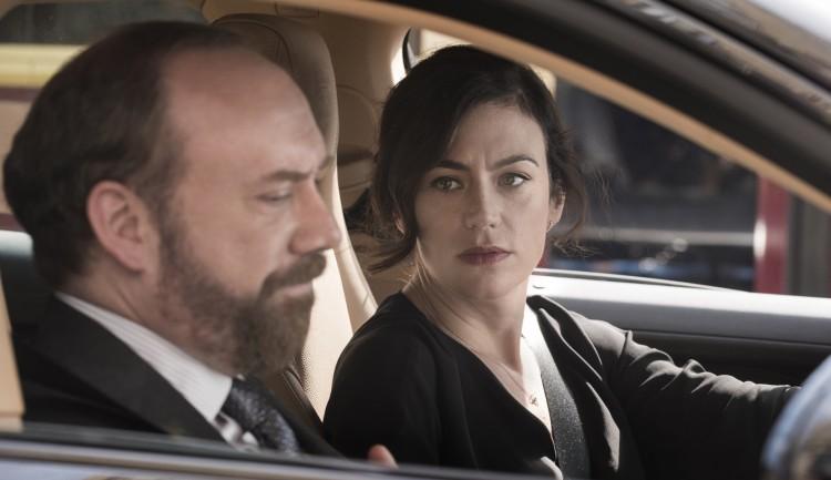 Giamatti e a esposa terapeuta/dominatrix interpretada por Siff. (Foto: Showtime)
