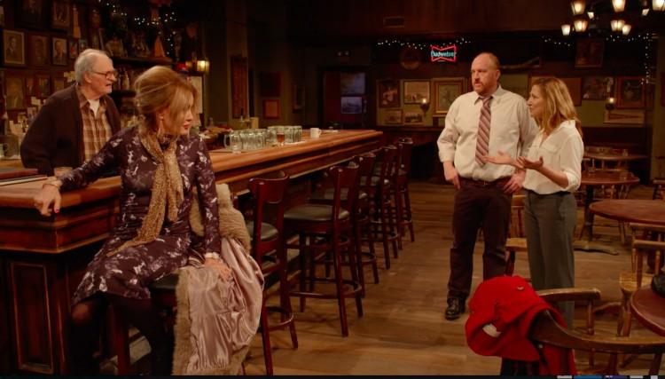 """Alan Alda, Jessica Lange, Louis C.K. e Eddie Falco em cena de """"Horace and Pete's"""" (Foto: Reprodução)"""