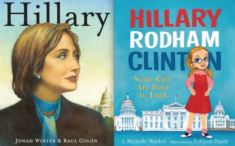 Capa dos dois livros infantis sobre Hillary Clinton, atualmente à venda nas livrarias americana. (Foto: Reprodução)
